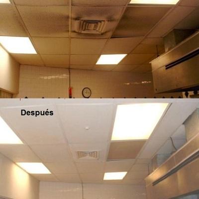 Limpieza de techos humos