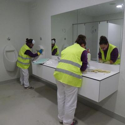 Limpieza Fin de Choque Pabellon Gran Canaria Arena