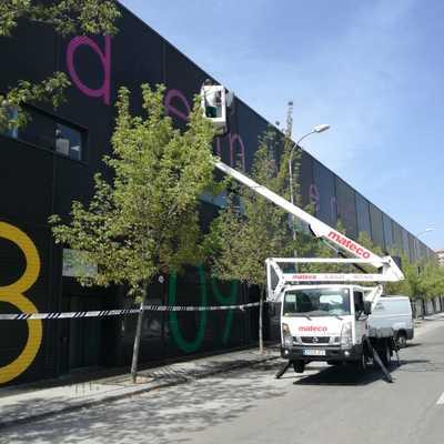 Limpieza fachada Factoría Vicálvaro