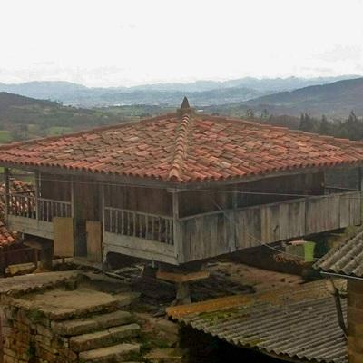 Limpieza techo de Horreo