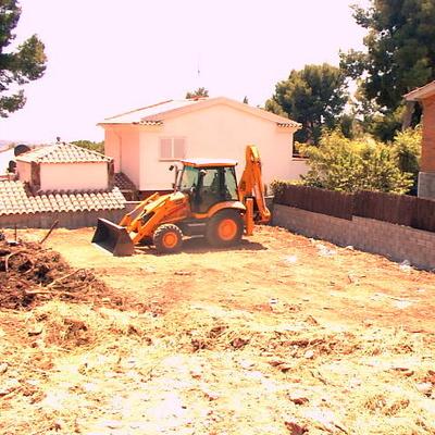 Construcción de vivienda de obra nueva.