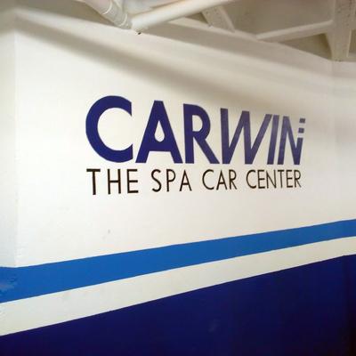 Pintura-rotulación de logotipo para empresa