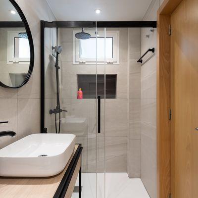 4 estilos de mamparas para tu ducha