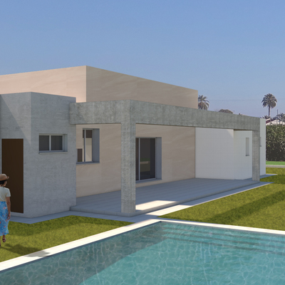vivienda con piscina en Murcia
