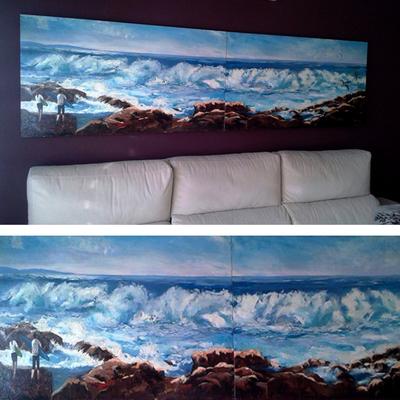 Pintura mural marina