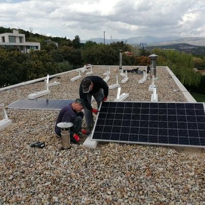 Instalacion de 15 paneles solares en Galapagar