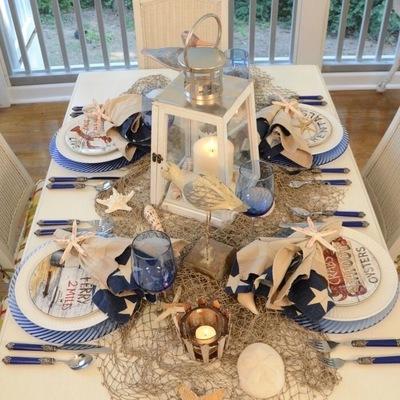 mesa conchas marinera