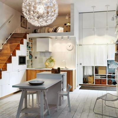 Ideas y fotos de l mpara de techo para inspirarte - Mesa de trabajo cocina ...