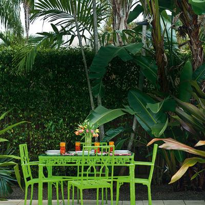 mesa exterior forja verde