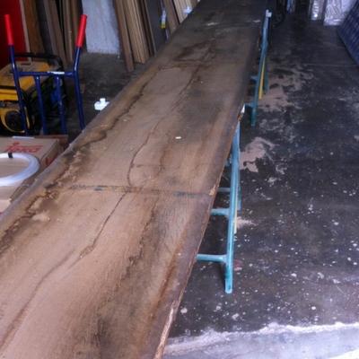 Mesa maciza en madera roble medidas especiales