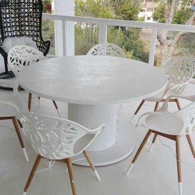 Mesa y suelo terraza