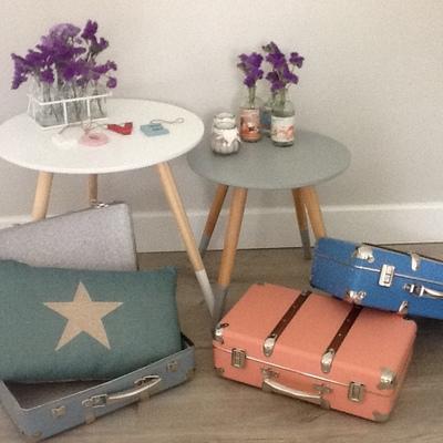 Mesas de estilo nórdico, maletines de estilo vintage y otros artículos decorativos