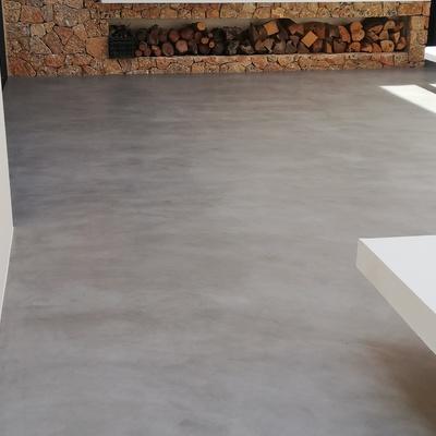700 m2 microcemento en terrazas exteriores