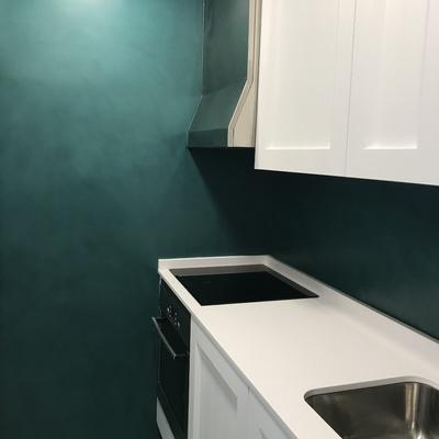 Instalación de microcemento en cocina