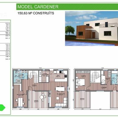 150,63 m2 CONSTRUIDOS MODELO CARDENER