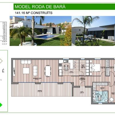 141,16 M2 CONSTRUIDOS MODELO RODA DE BARA