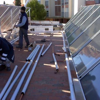 Montaje de instalación solar