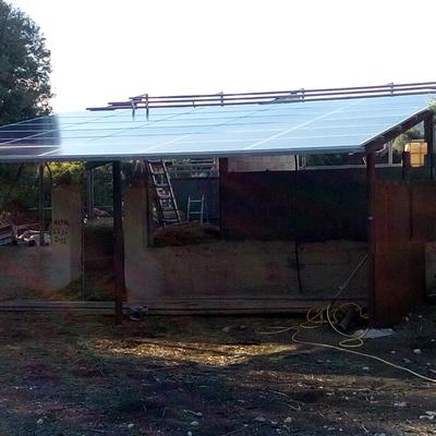 Instalación solar FV aislada en Agroturismo