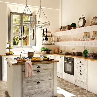 mosaico hidráulico en cocina