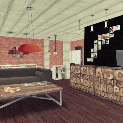 Diseño de interiores de una peluuería