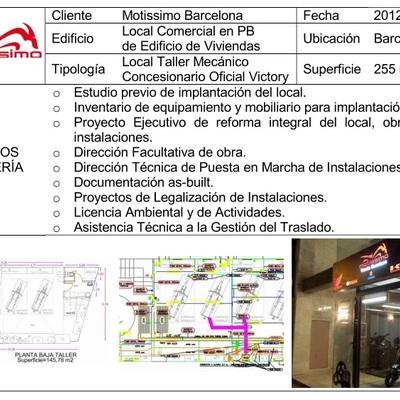 Motissimo - Servicios de ingeniería para reforma y apertura local taller mecánico (2013)