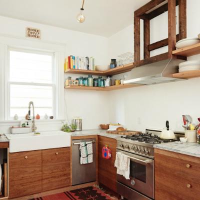 Mobiliario de cocina de madera