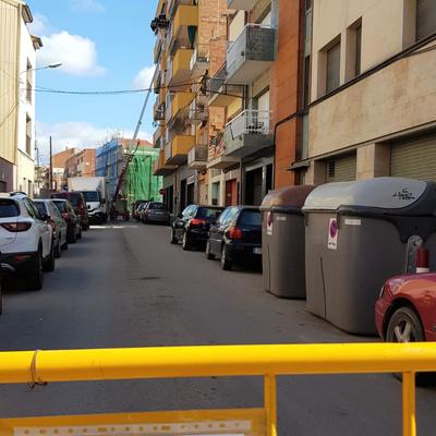 Mudanza Granollers-cierre de calle