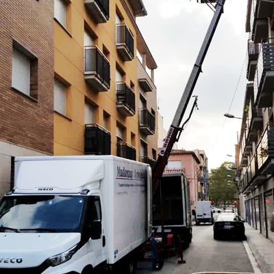 Mudanza en calle Primer Marquès Franqueses-Granollers