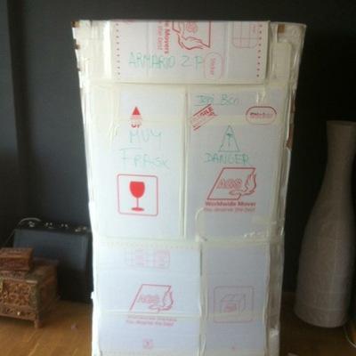 Mueble terminado de embalar