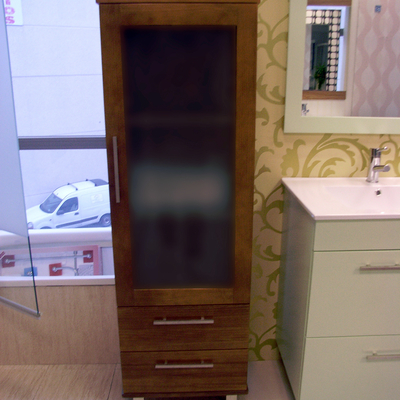 Mueble columna con cristal