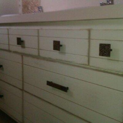 Mueble de baño a medida en madera. Modelo 6
