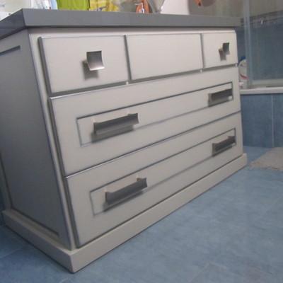 Mueble de baño a medida en madera. Modelo 3