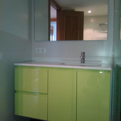 mueble de baño Biforis laminado alto brillo