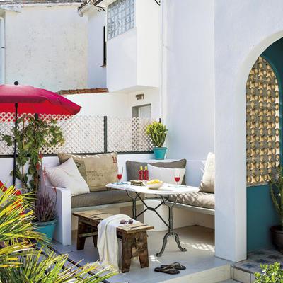 Crea rincones de obra para decorar tu exterior
