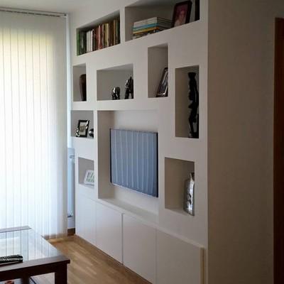 mueble de pladur con puertas lacadas