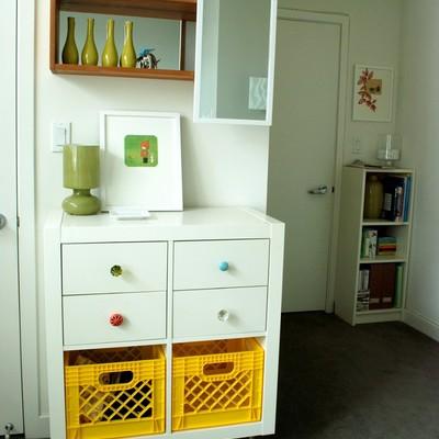 Mueble reciclado para habitación niños