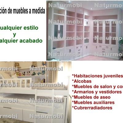 He aquí ejemplos de mobiliario realizado a medida y de restauración de mueble.
