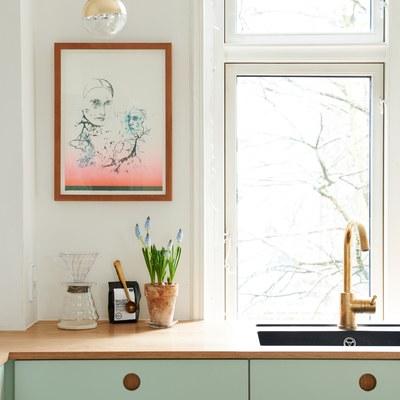 Muebles de cocina en verde