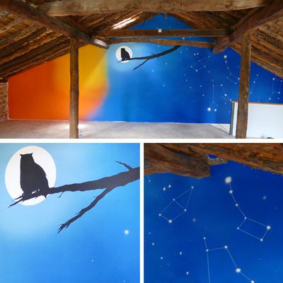 """Mural Centro de Interpretación de la naturaleza """"Másquemonte"""""""