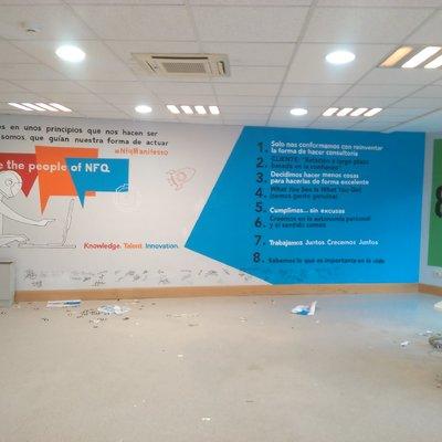 Murales decorativos para empresa y organización de evento para empleados