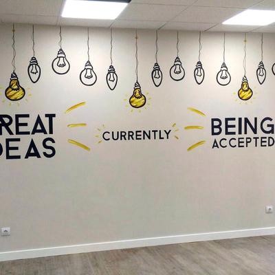Mural decorativo para oficina