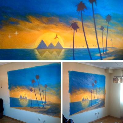 Mural Egipto para particular