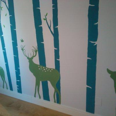 """Mural infantil  """"naturaleza"""""""