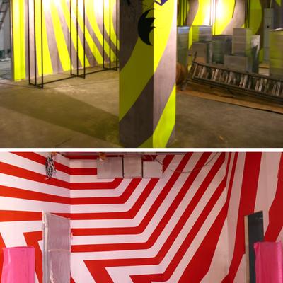 Pintura decorativa de la tienda Nke del Estadio Wanda Metropolitano