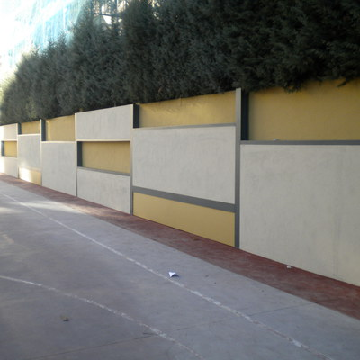 Construcción De Muro De Refuerzo En División De Edificios Del Consulado General De Italia Y El Liceo Italiano.