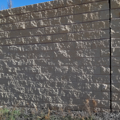 Muro bloque visto