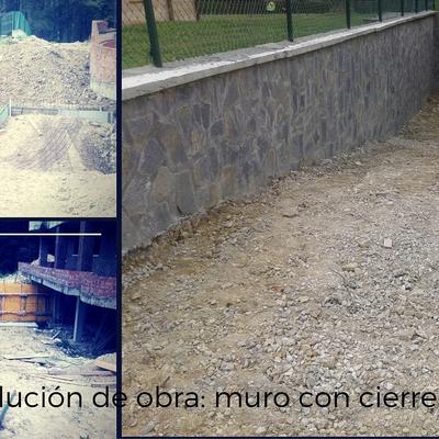 Construcción de muro con cierre perimetral