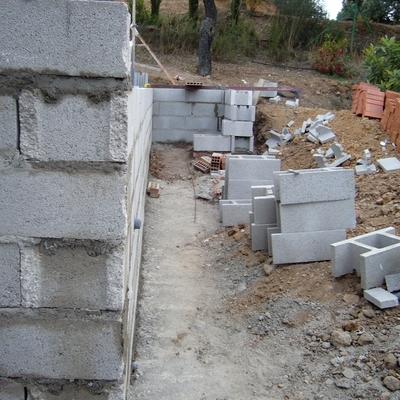 Muro de bloques estructurales