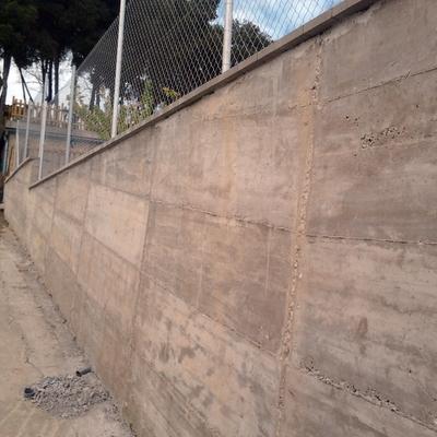 Presupuesto construir muro hormig n online habitissimo - Muro de bloque de hormigon ...