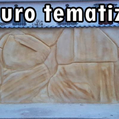 Tematización de muro de chalet en Toledo